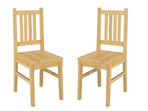 Küchenstuhl Massivholzstuhl Esszimmerstuhl Kiefer Stuhl Eris 90.71-01-2 Set (Küche Stühle-set Von Zwei)