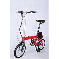 Rojo plegable bicicleta eléctrica TDR 14Z