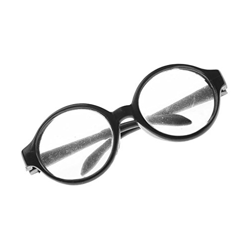 MagiDeal Unique Doll Clothing Round Frame Clear Lens Eyeglasses for 18