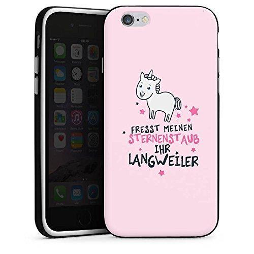 Apple iPhone 6 Hülle Case Handyhülle Einhorn Unicorn Sprüche Silikon Case schwarz / weiß