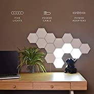 DIY Quantum Lights,Hexagonal Wall Lamp Creative Geometry Assembly LED Night Light Smart Dimmable Touch Sensitive Modular Lig