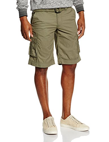 Teddy Smith SYTRO 2 - Shorts Uomo, Verde (Cactus), W31