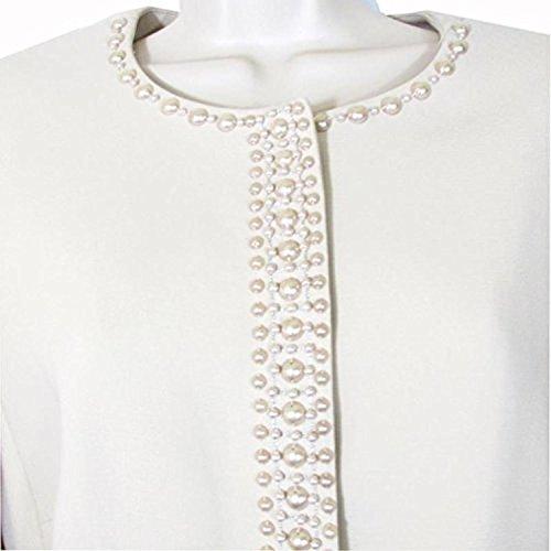 Tahari ASL Women's Beaded Blazer Cecilia Skirt Suit. Size 10
