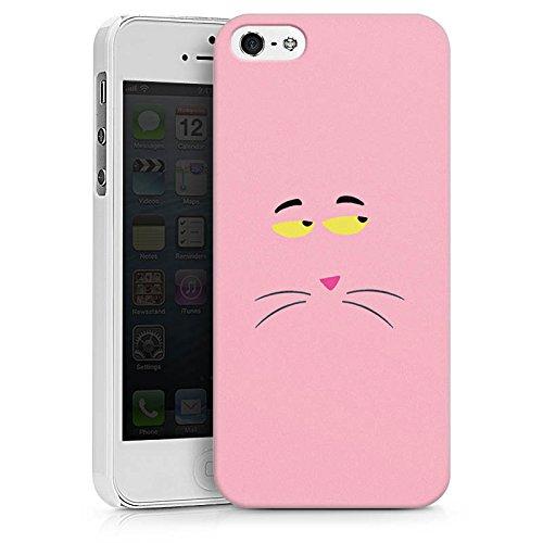 Apple iPhone X Silikon Hülle Case Schutzhülle Pink Panther Katze Cat Hard Case weiß