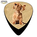 Celluloid Guitar Picks For Electric Guitar,Print Dog With Headset,12 Pack