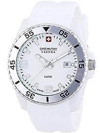 Swiss Military Hanowa - Reloj analógico de cuarzo para hombre con correa de plástico, color blanco