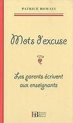Mots d'excuse : Les parents écrivent aux enseignants