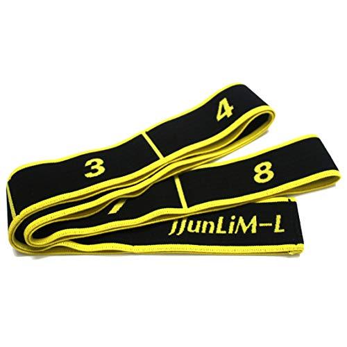 JJunLiM, Gymnastikbänder für Kinder und Erwachsene, für Pilates, Yoga, Fitness, Tanz, Gymnastik, Workout, 15 kg Widerstand (90cm Adult Yellow)
