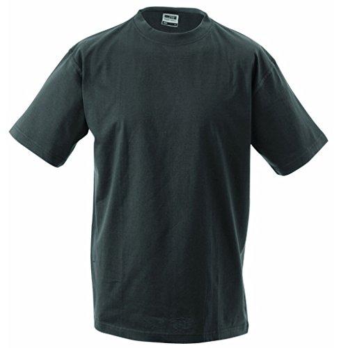 JAMES & NICHOLSON Komfort-T-Shirt aus strapazierfähigem Single-Jersey Graphite