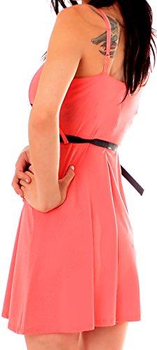 Damen Minikleid mit Spitze Pink