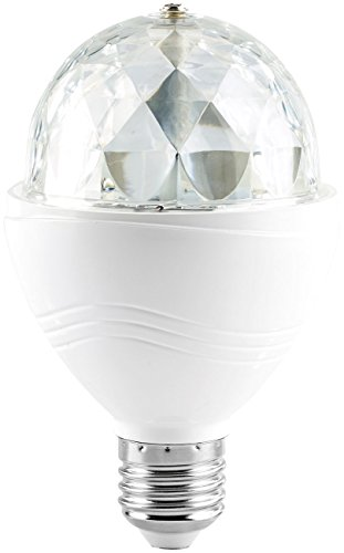 Lunartec Disco Lampe: Rotierende Disco-Leuchte mit RGB-Farbeffekten, 3 W, E27 (Disco LED)