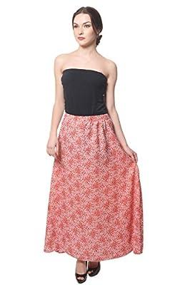 Hazle Avenue Women's Regular Printed Full Length Skirt