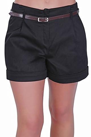 Eyecatch - Cuba Dames Belted Short Aux Femmes Pantalon