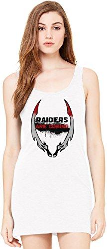Raiders Are Coming Bella Basic ärmellose Tunika Sleeveless Tunic Tank Dress For Women  100% Premium Cotton  X-Large