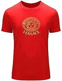 Versace Gold Logo para 2016Hombres impreso manga corta camiseta