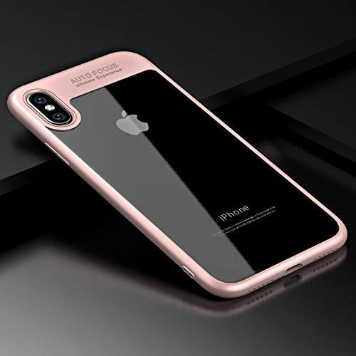 Samsung Galaxy J5 2017 Hülle, Schutzhülle [TPU Case, Rückseite Klar] Handyhülle Bumper [Rosa]