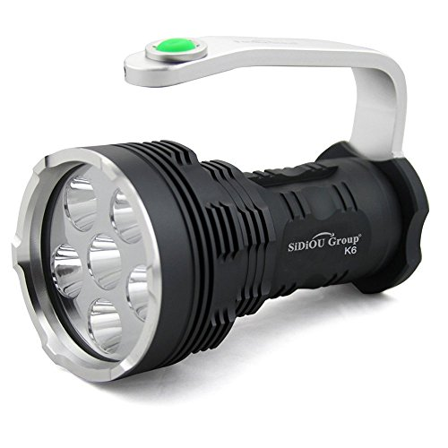 Sidiou Group Nouveau Led Lampe Torche Haute Puissance Super Bright 8000 Lumens 6x Cree Xm L T6 Led Flashlight Searchlight