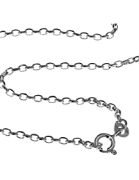 Sterling Silver Cable Chain For Your Favorite Pendant 1.5 MM 45.72 cm