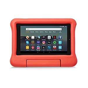 Kid-Proof Case for Fire 7 Tablet | Compatible with 9th-Generation Tablet (2019 release), Red