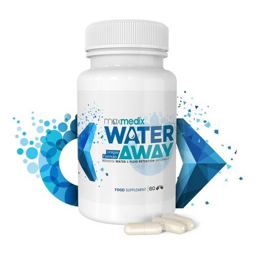 Max Medix Water Away Wassertabletten | Natürliche Diuretika zur Entwässerung des Körpers | Entwässerungs-Tabletten gegen Wassereinlagerungen in den Beinen, Füßen und Gesicht | Ideal zum Abnehmen, Detox und Stoffwechsel anregen