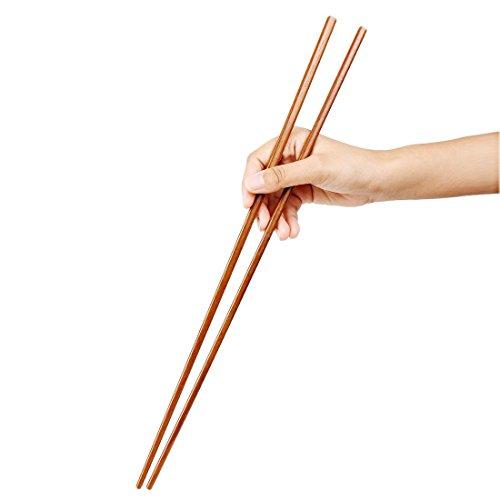 sourcing map uxcell japanischen Stil, Holz Essstäbchen Hot Pot Geschenk-Set 4Paar de