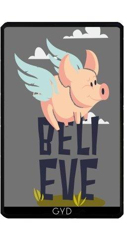 DesignedByIndependentArtists Hülle für Kindle Fire 7 pouces (2012 Version) - Illustration Schweine Können Fliegen by UtArt