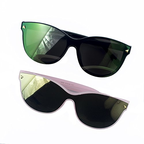 Hand® 2 Paare von stilvollen Mono Objektiv Sonnenbrillen - Frame 140 mm breit x Arm 145 mm lang - 100% UV400 Schutz
