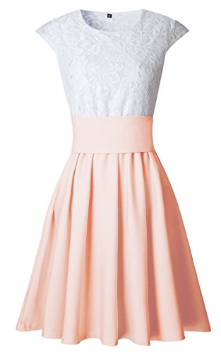 ECOWISH - Tailleur-jupe - Femme Hell Orange