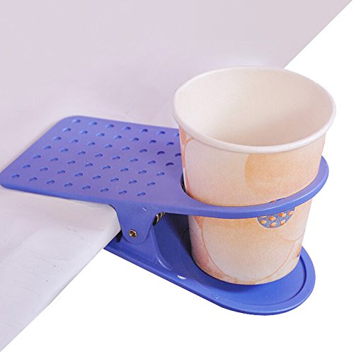 OUMOSI Home Office Drink Cup Coffee Mug Desk Lap Folder Table Holder Clip-Color Random by Oumosi