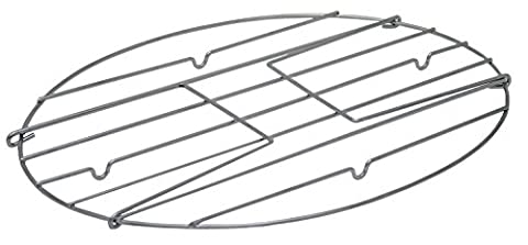 Granite Ware 2005-8 Flat Oval Roaster Rack with Handles, Large
