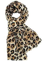 DAMILY Femmes Hiver Trendy Léopard Imprimé Animal Echarpe Châle Wrap  Élégant Long ... 2c5a30f5cd1
