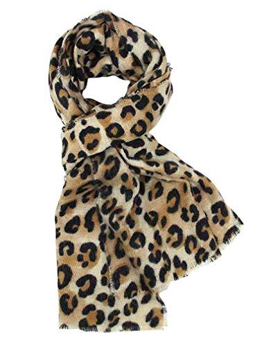 DAMILY Femmes Hiver Trendy Léopard Imprimé Animal Echarpe Châle Wrap Élégant  Long Pashmina Couverture Foulards ( 5225acd6cc6