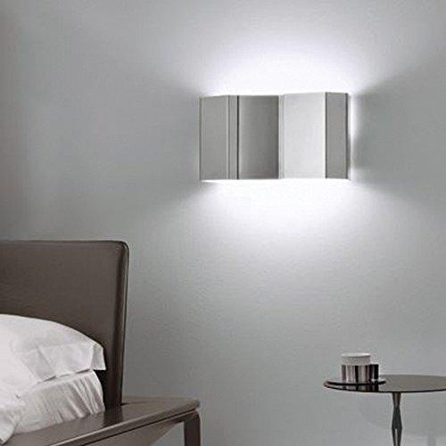 Pallucco Fold Parete P Bianco, lampada da parete L 42cm