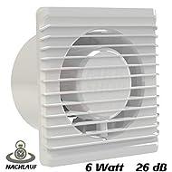 Ventilatore da bagno, diametro 100mm, con Timer/avvio posticipato MKK-Planet Ventola Ventilatore Ventilatore caricamento–Ventola da parete ventola da bagno da cucina, silenzioso, 10cm