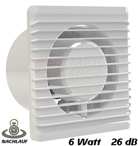 Baño Ventilador 100mm de diámetro en color blanco con temporizador/seguimiento MKK de...