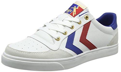 Lieber Jean (hummel HUMMEL STADIL LOW, Unisex-Erwachsene Sneakers, Weiß (White/Blue/Red/Gum), 39 EU (6 Erwachsene UK))
