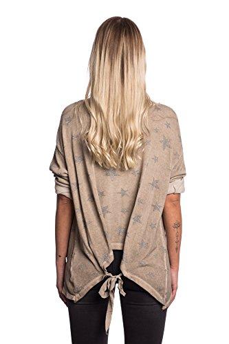 Abbino 8186 Chemisiers Blouses Tops Femmes Filles - Fabriqué en Italie - 4 Couleurs - Transition Printemps Été Automne Plaine Chemises Fashion Elegante Vintage Classique Casual Sexy Boue Marron