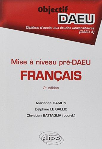 Français Pré-DAEU Mise à Niveau Objectif DAEU A