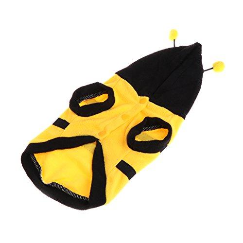 (Qiuxiaoaa Haustiere Biene Verwandeln Kleidung Biene Kostüm Niedlich Warm Mit Weichen Tuch Mantel Hoodie Für Hündchen Katze 10)