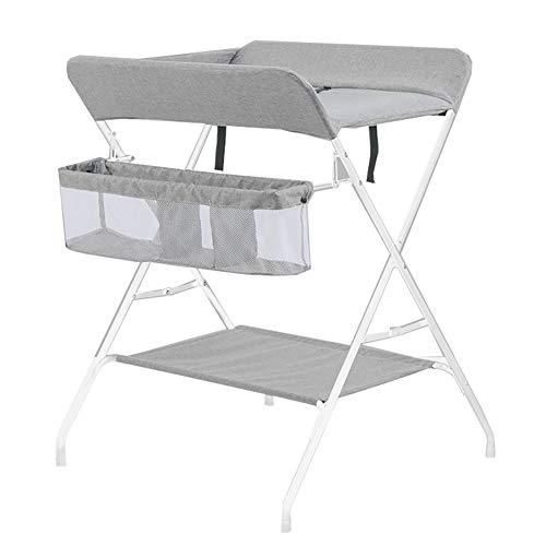 Tables à langer Table De Soins pour Bébé pour Bébé Nouveau-né Table De Massage Pliable Multifonction (Couleur : Gray)