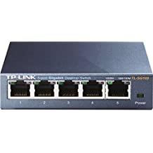TP-Link TL-SG105 - Switch de escritorio de red Gigabit con 5 puertos 10/100/1000 Mbps (carcasa de acero, IEEE 802.3x, Auto-MDI/MDIX, Plug and Play, ahorro de energía, puertos RJ45, fácil de usar)