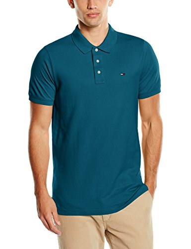 Tommy Hilfiger - THDM BASIC POLO S/S 1, Top da uomo, AQUARELLE 407, XX-Large