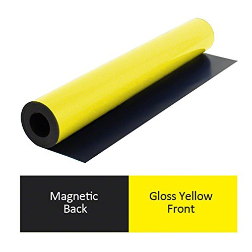 first4magnets® - Yellow Flexible Magnetic Sheet (590 wide x 0.85mm thick x Running Metre) (2 x 5m length)