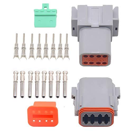 1 Sets Kit deutsch DT 8 Pin Wasserdicht Elektro-Wire Connector Plug Kit 22-16 AWG DT04-8P DT06-8S - 8 Pin Wire