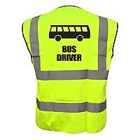 Kids Fun BUS DRIVER Hi Viz Vis Vest Childs Reflective Waistcoat Jacket Safety Fancy Dress Joke High Visibility