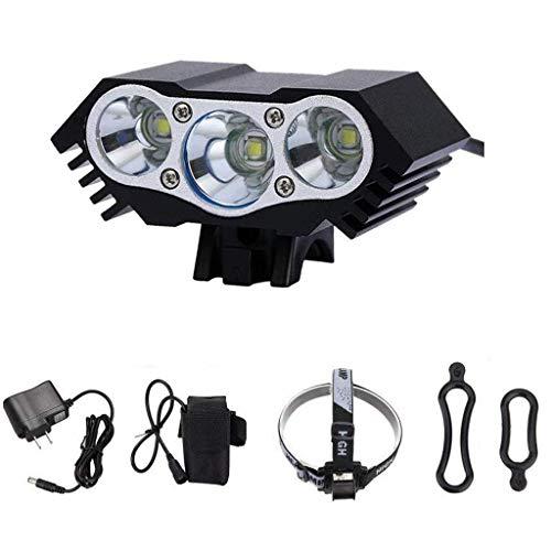 LED Fahrradbeleuchtung Fahrradlicht, Nourich Wasserdicht Fahrradleuchte Fahrradbeleuchtung, Fahrradlampe Fahrradlicht, Rücklicht, Aufladbare Fahrradlichter Für Camping Angeln Wandern (schwarz)