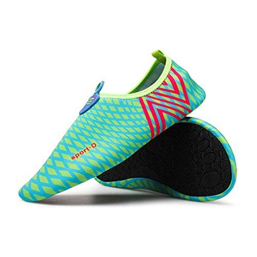 1d69bd9082be Boys Girls Mens Womens Quick-Dry Surf Aqua Shoes Beach Swim Water Shoes  Wetsuit Socks Yoga Exercise Shoes (Blue