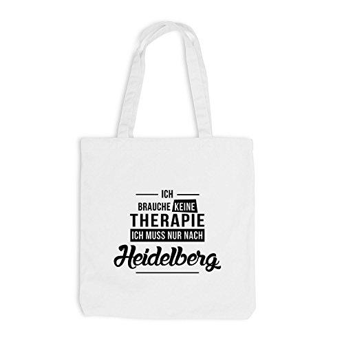 Borsa Di Juta - Non Ho Bisogno Di Terapia Heidelberg - La Terapia Di Vacanza Si Rilassa In Bianco