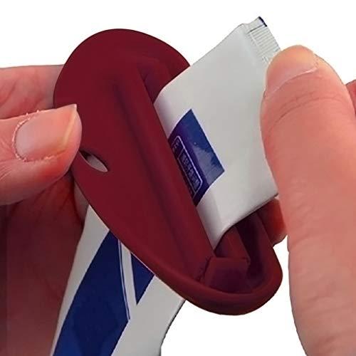 Zahnpasta Extruder,Shenye mehrzweck kreative mehrzweck squeeze lippen Zahnpasta Gesichtsreiniger Kosmetik Handcreme (rot)