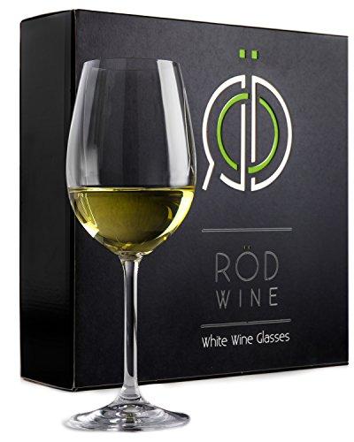 Weingläser Weißwein Set aus Bleifreiem Titan Kristallglas, 355 ml - Bauch & Langer Stiel - Ideal für Hochzeiten, Feiern und Geburtstage - Die perfekte Geschenkidee -3er Set (Designer Lilly Pulitzer)